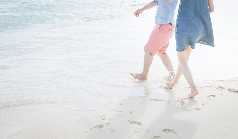 夏の海で軽く浮かれる